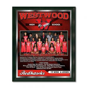 "11"" X 13"" Vividcolor Digital Team Plaque With Digital Border"