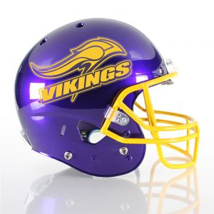 1 Color Custom Football Helmet Decals