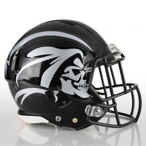 1 Color Half Helmet Football Helmet Decals