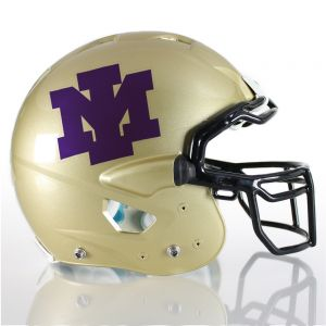 1 Color Interlocking Letter Football Helmet Decals
