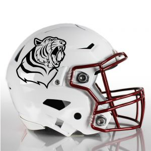 One Color Mascot Football Helmet Decals
