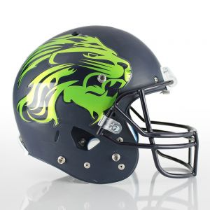 1 Color Midsized Football Helmet Decals