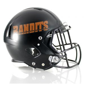 One Color Name Strip Football Helmet Decals