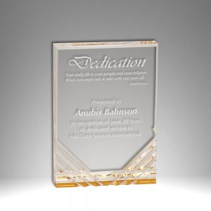 "3.5"" X 5"" Jewel Self Standing Acrylic Award"
