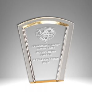 "7"" Fan Halo Self Standing Acrylic Award"