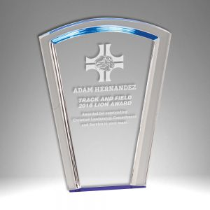 "8"" Fan Halo Self Standing Acrylic Award"