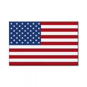"American Flag 1-3/8"" X 7/8"" (Sheets of 25)"